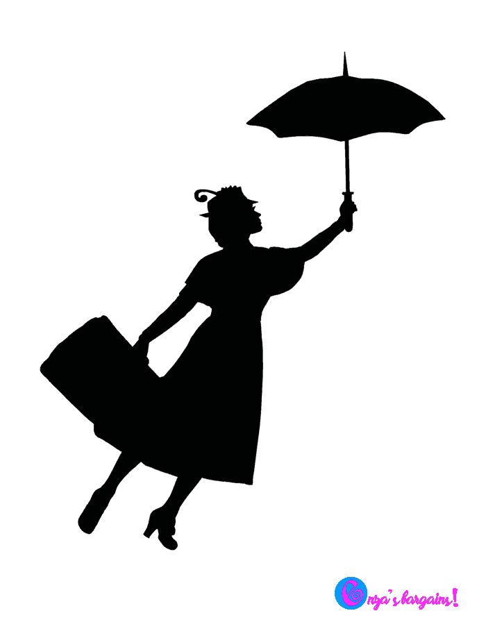 Mary Poppins Returns Silhouette PNG