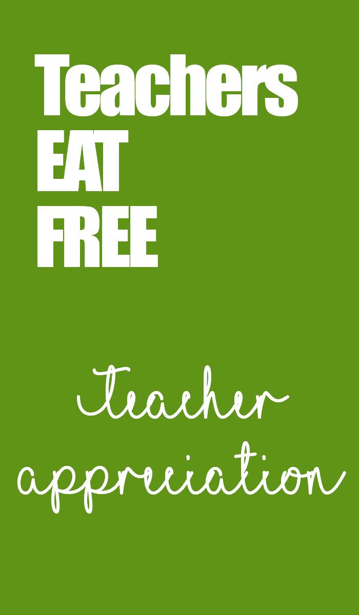 Teacher's Appreciation Week 2019 Kansas City Food Freebies