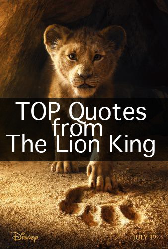 2019 The Lion King Quotes