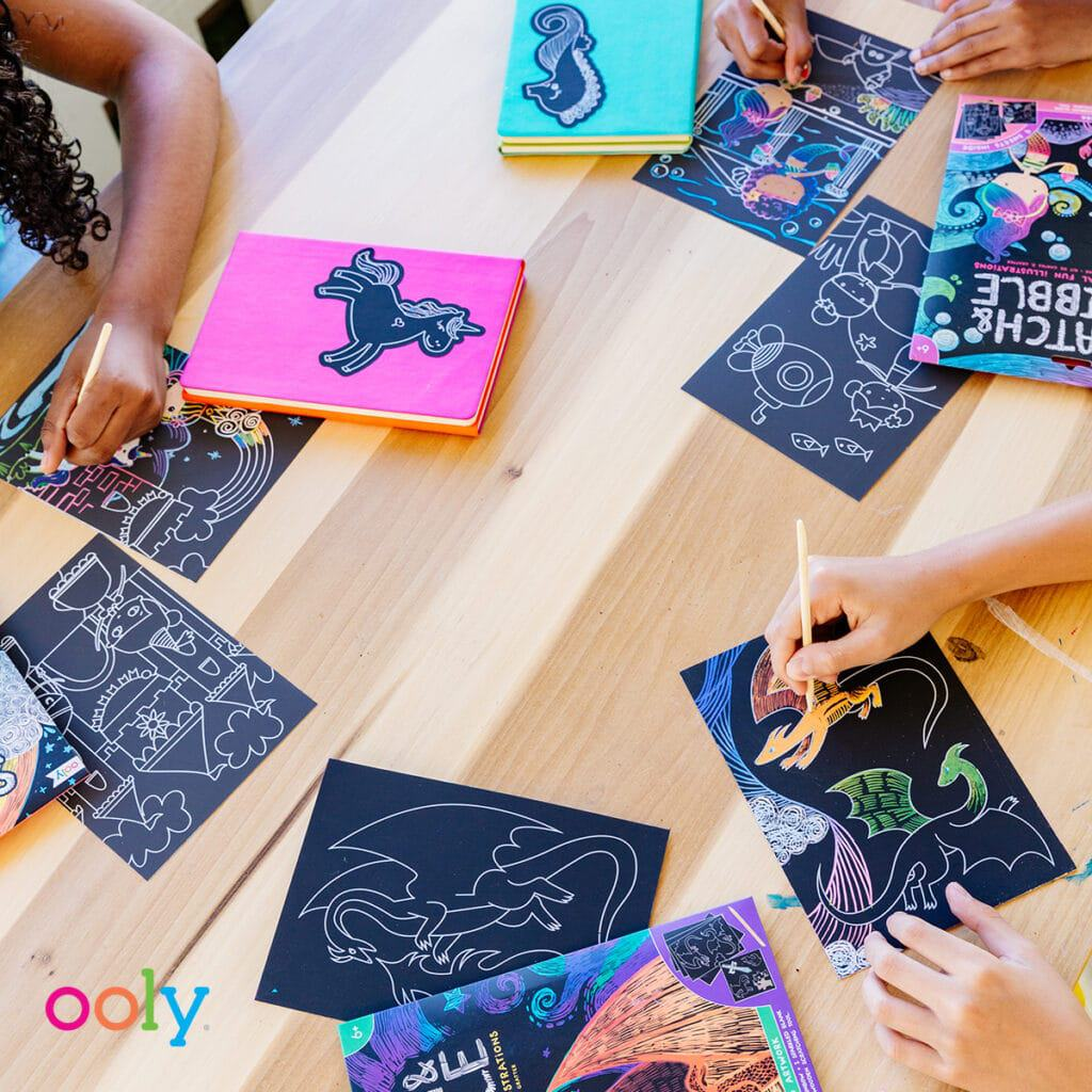 OOLY Art Kits - Scratch and Scribble Kits