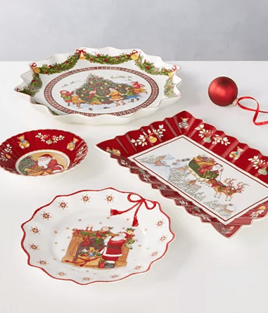 Ruffle Christmas Plates - Macy's Holiday Season Decorations