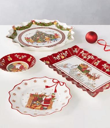 Ruffle Christmas Plates - Macy's Holiday Season Decorations