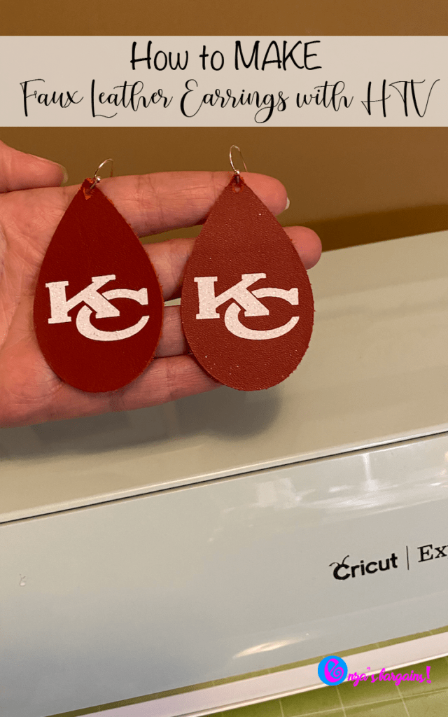 How to Make Cricut Faux Leather Earrings on an Explore Air With Heat Transfer Vinyl
