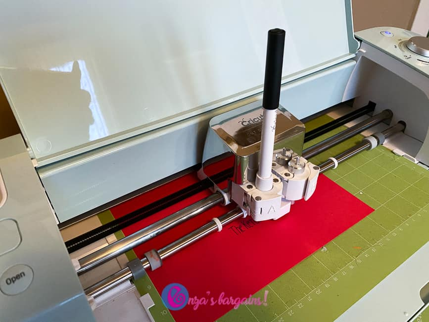 Using a writing font on a mat board being created with Cricut Explore Air 2.