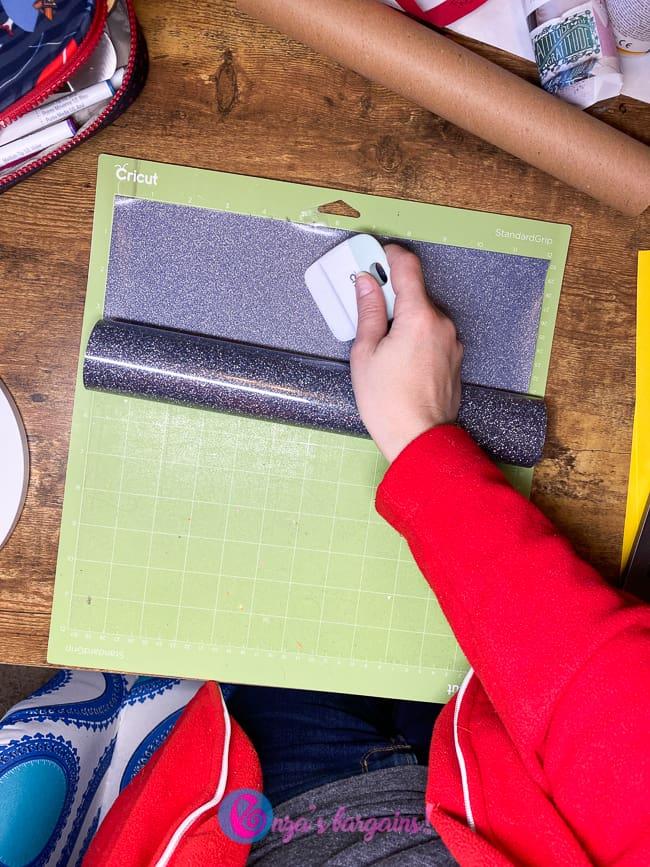 Applying Heat Transfer Vinyl or Cricut Iron On to Cardstock