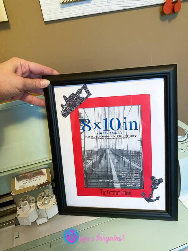 Cricut Fish Extender Ideas - Cruise Picture Frame
