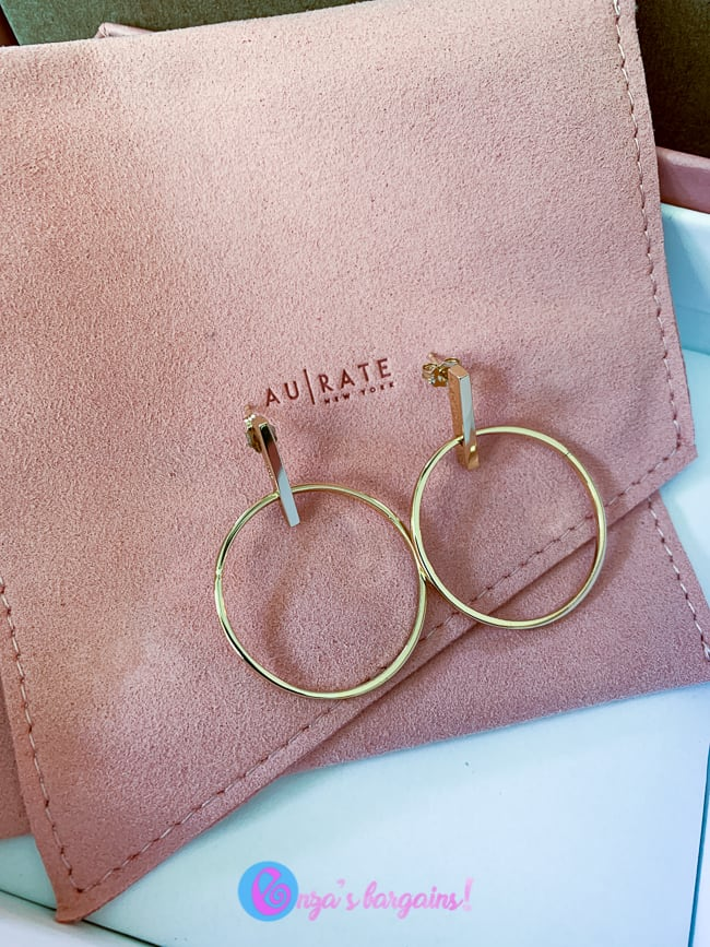 Simple Gold Hoop Earrings for Daily Use - Earrings with Sticks