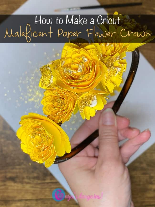 Gold Paper Flower Crown - Inspired by Maleficent: Mistress of Evil