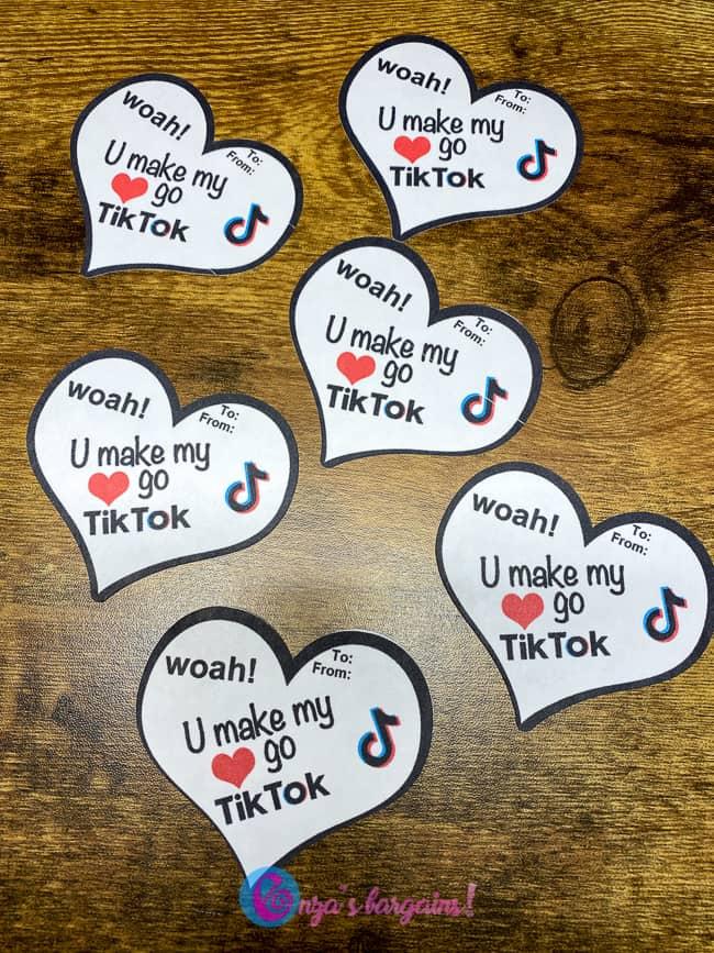 TikTok Valentine's Day Cards - Super Trendy