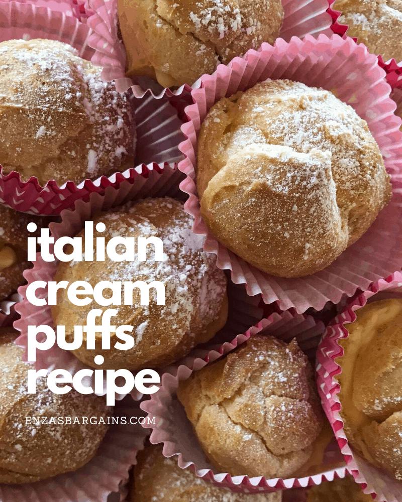 Italian Cream Puffs Made With Vanilla Pudding