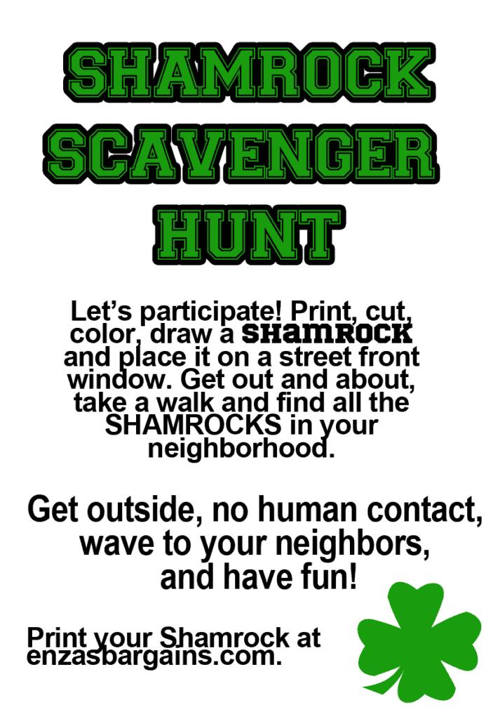 Shamrock Neighborhood Scavenger Hunt