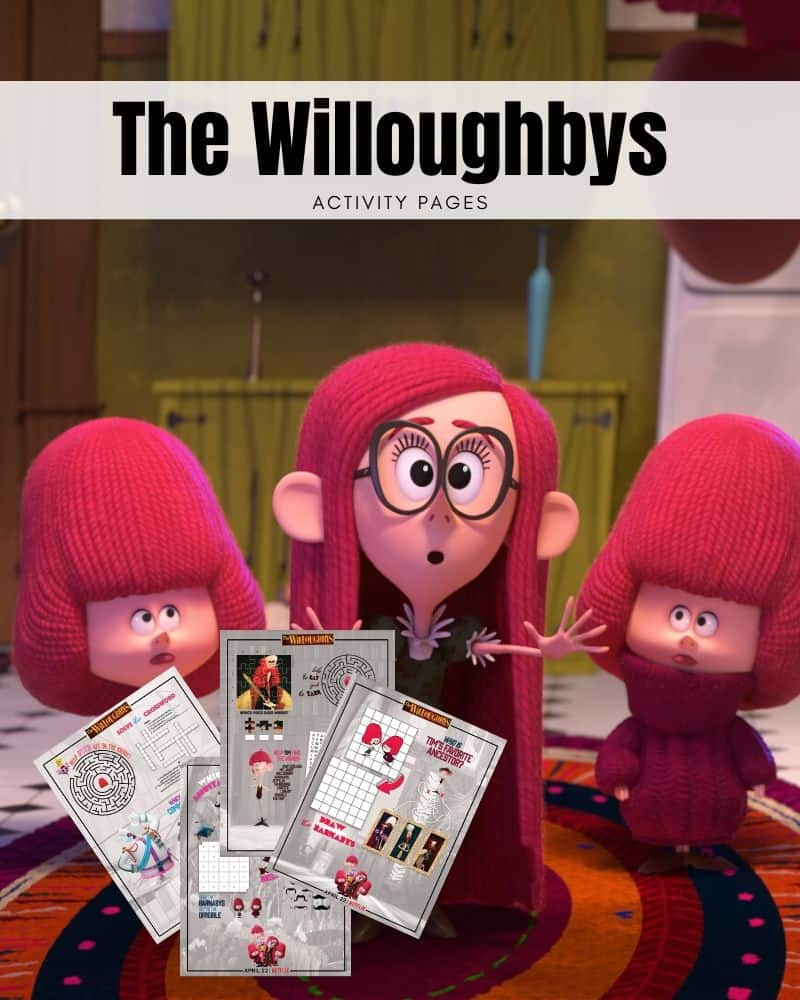 Netflix's The Willoughbys Activity Pages
