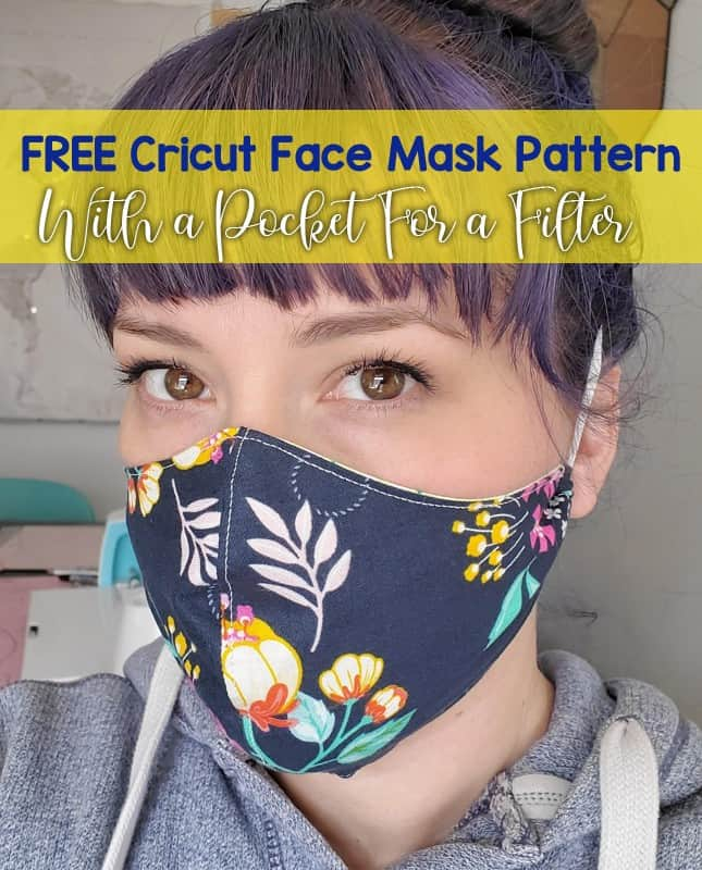 Free Cricut Face Mask Pattern With Pocket