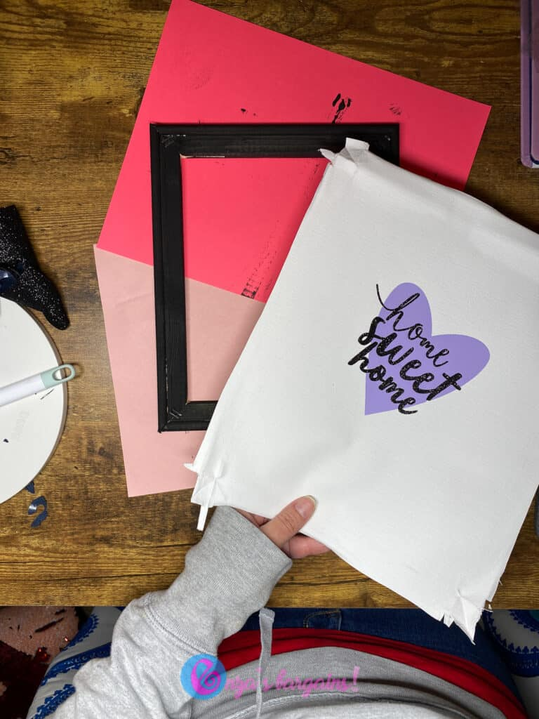 DIY Cricut Reverse Canvas