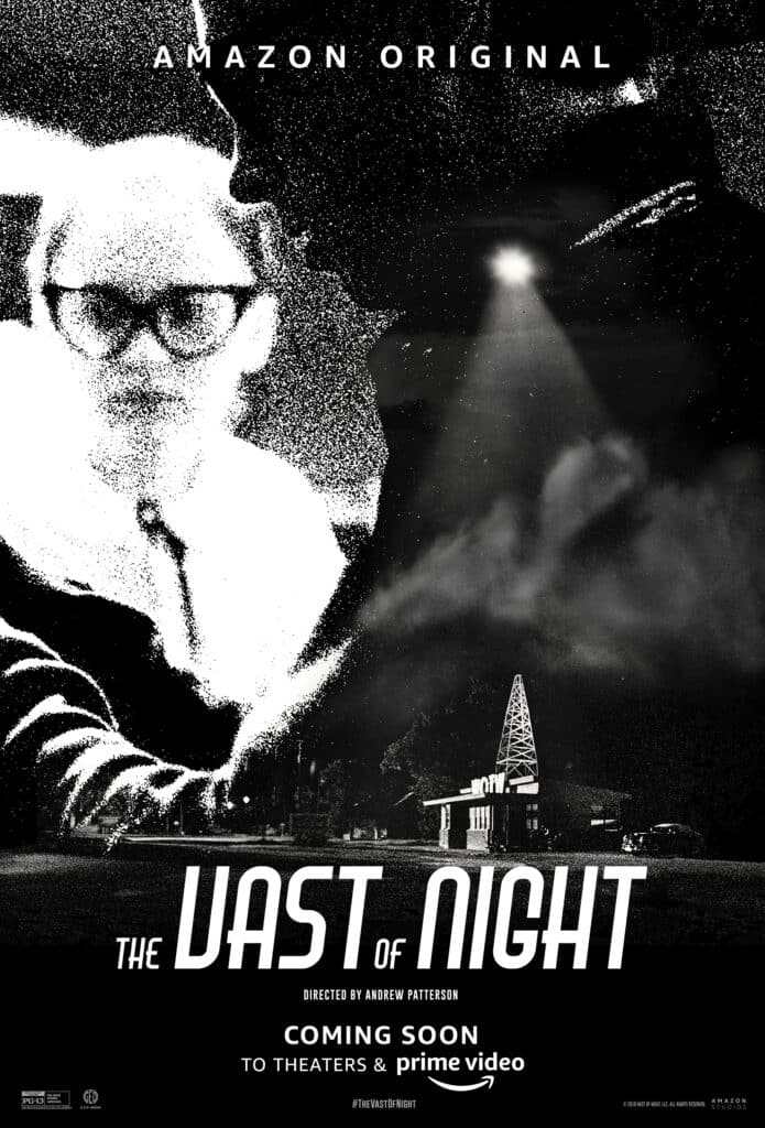 The Vast of Night Review - Movie Poster Black and White
