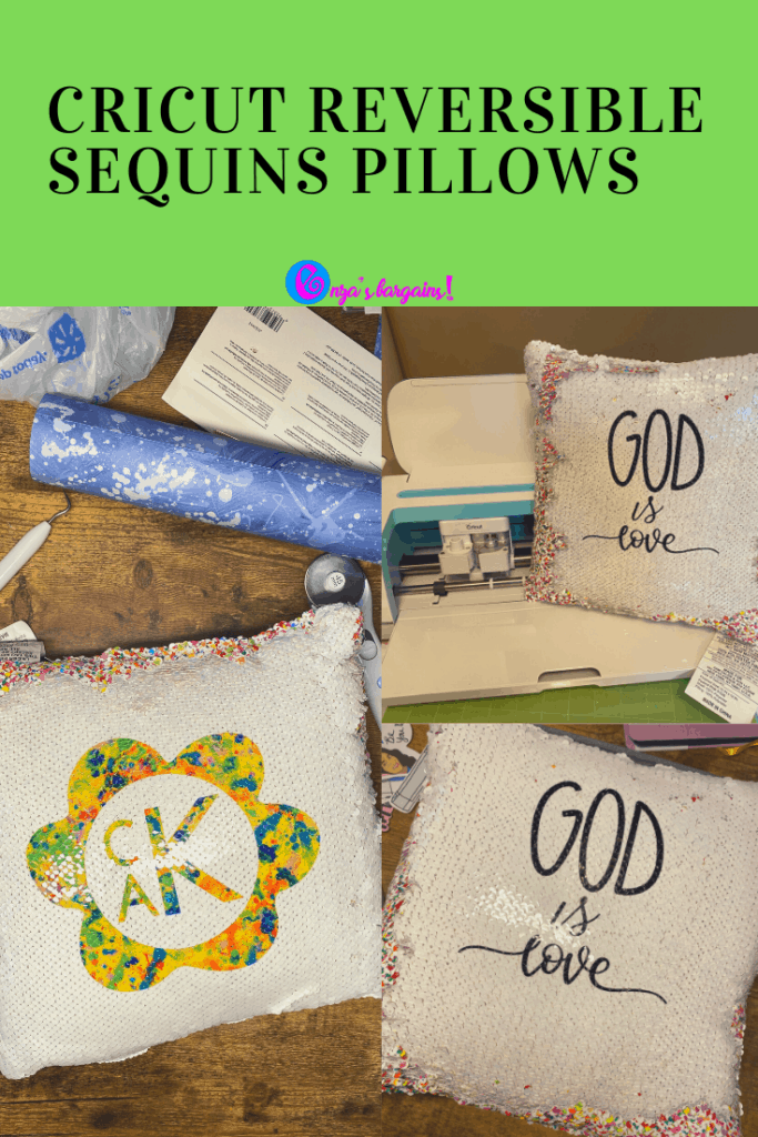 Cricut Infusible Ink Reversible Sequins Pillow Tutorial