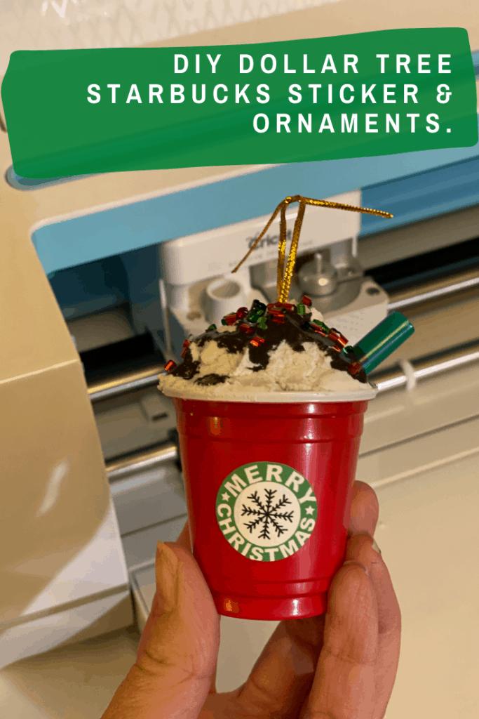 DIY Dollar Tree Starbucks Stickers and Ornaments