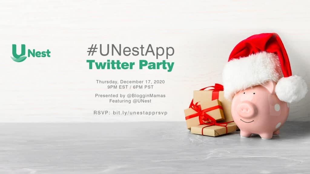#UNestApp Twitter Party 12-17-20 at 9p ET