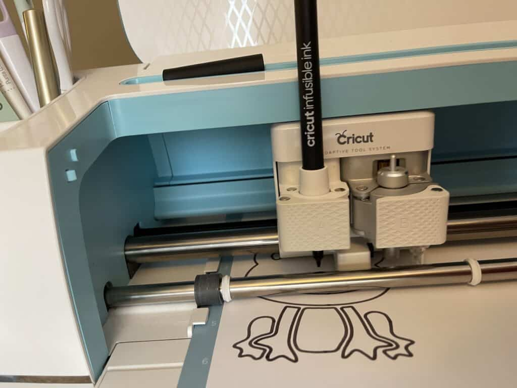 Cricut Maker and Infusible Ink Marker on Canvases