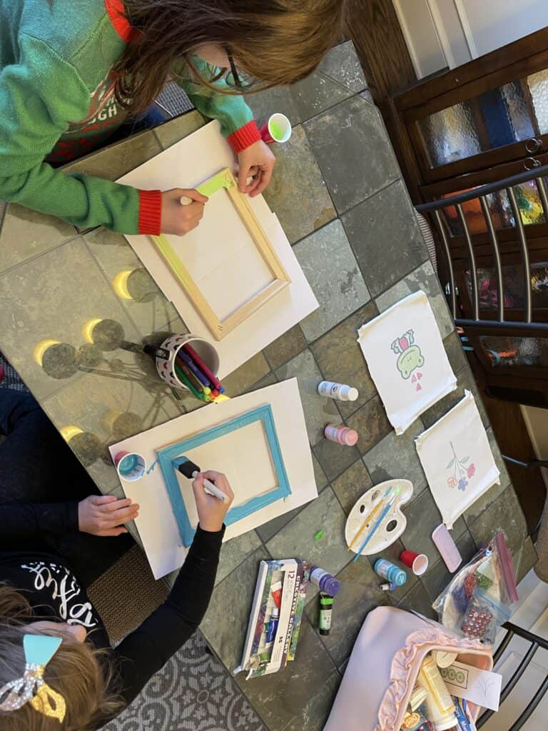 Indoor Activities for Kids with Infusible Markers on Canvases
