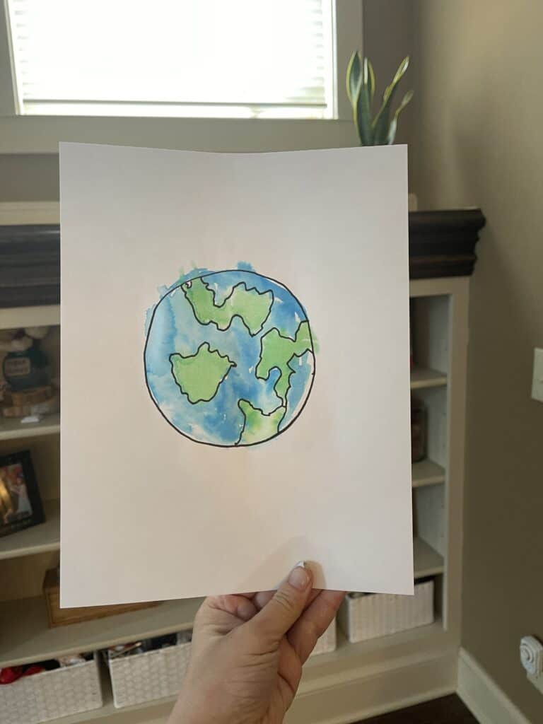 Water Color Earth Painting