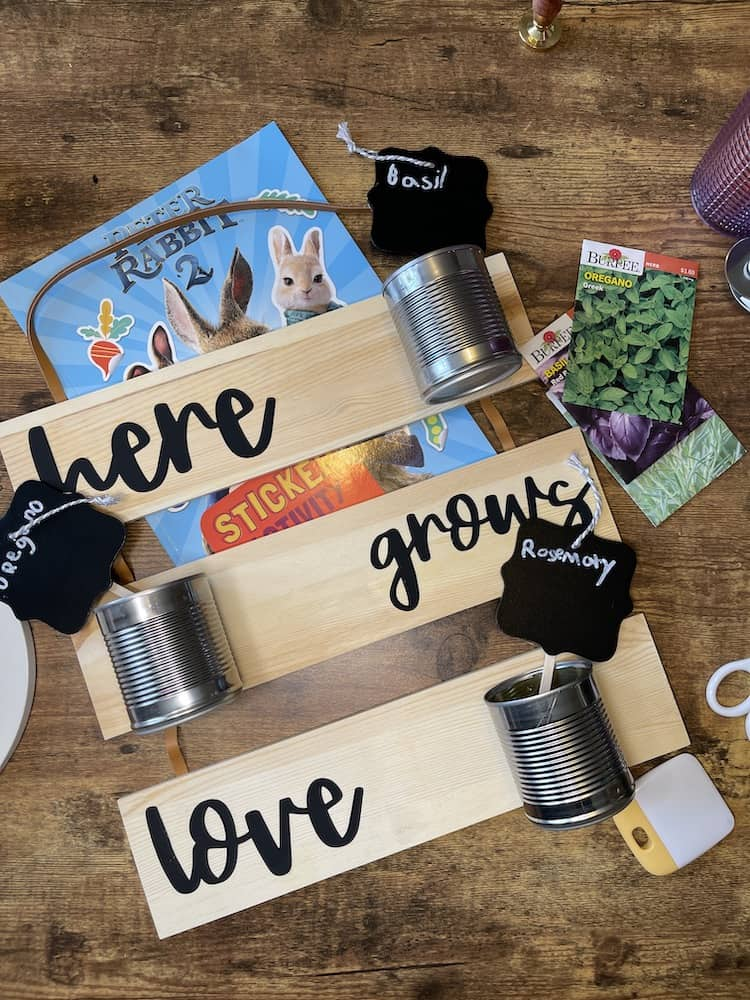Easy Cricut Herb Garden - Peter Rabbit Inspired Craft