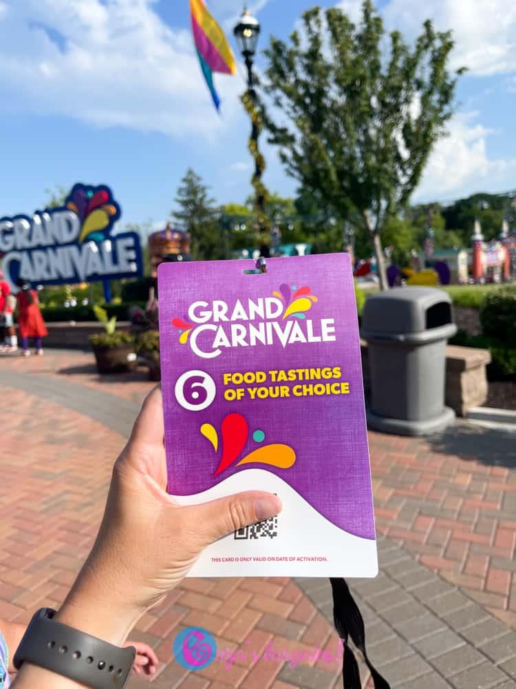 Worlds of Fun Grand Carnivale Tasting Card