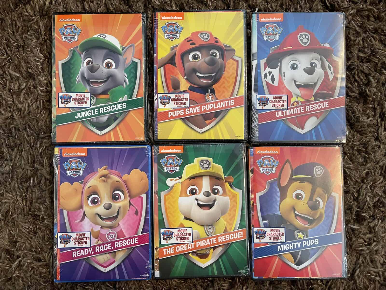 Paw Patrol Unleashed Movie Poster with DVD